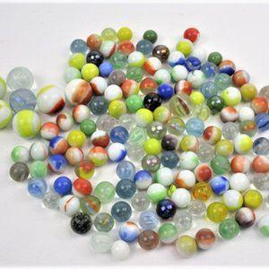 Bundle of Vintage Glass Marbles